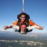 Chute libre parachute Clusaz