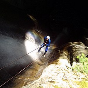 rappel canyoning