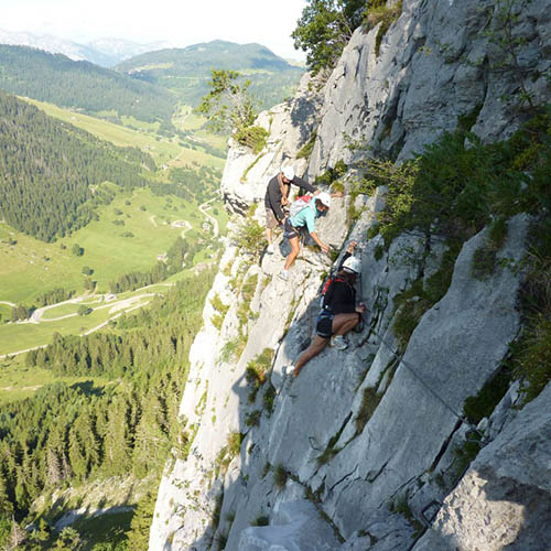 Via ferrata – Escalade Clusaz
