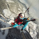 Parapente ski Clusaz Hiver