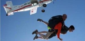 Chute libre parachute LaClusaz